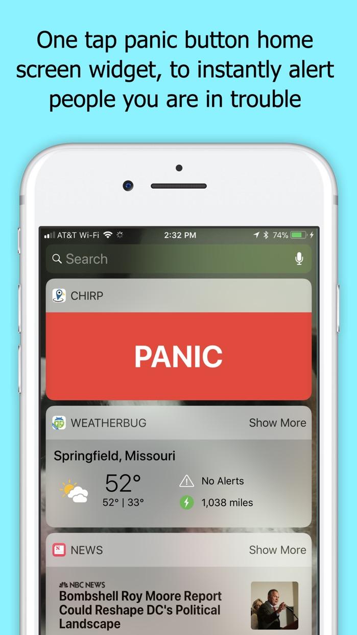 Chirp GPS phone tracking Screenshot