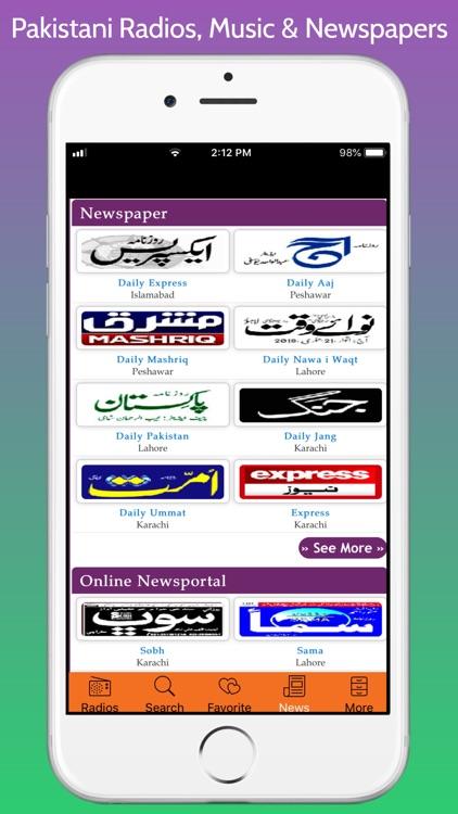 Pakistani Radios, Music & News screenshot-5