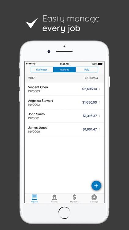 Invoice Simple - Invoice and Estimate on the Go screenshot-3