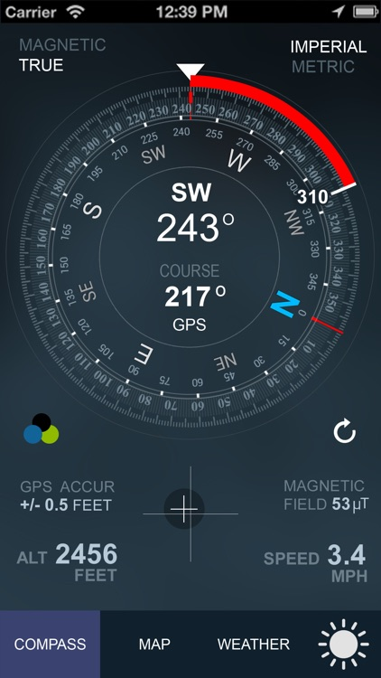 Compass GPS(Map, Weather) screenshot-0