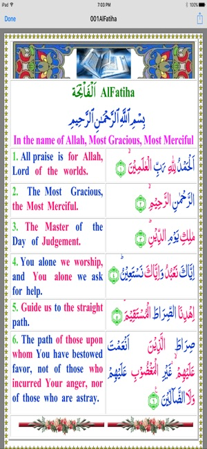 Quran in Colors Arb-Eng InPak on the App Store