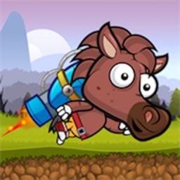 Jet Pack Horse Running