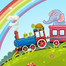 Activities of Animals Train for Toddlers Fun