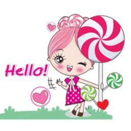 Adorable Lollipop Girl Sticker