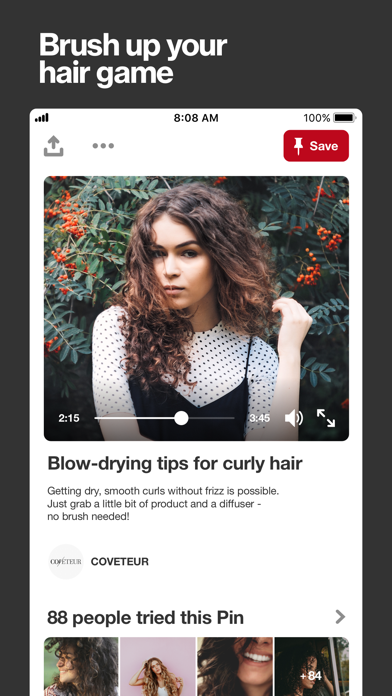 Screenshot for Pinterest: Lifestyle Ideas in Belgium App Store