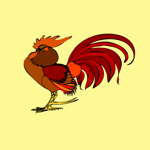 Raucous Rooster Stickers
