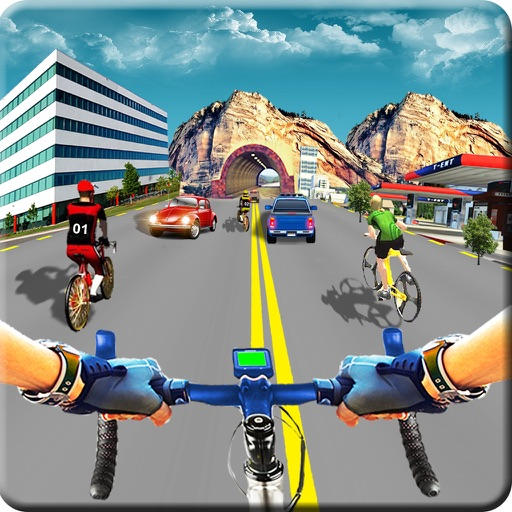 In Bicycle Racing on Highway