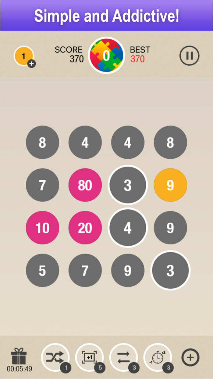 Puzzle 10 - Merge Numbers Screenshot