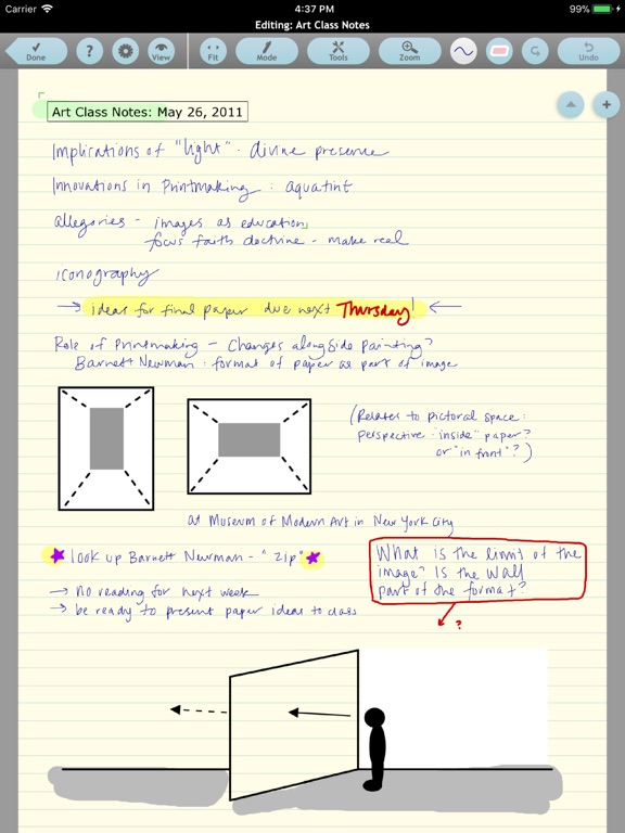 Screenshot #1 for Note Taker HD
