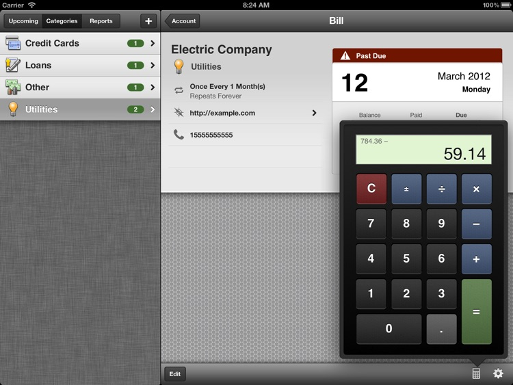 BillMinder 3 for iPad screenshot-3