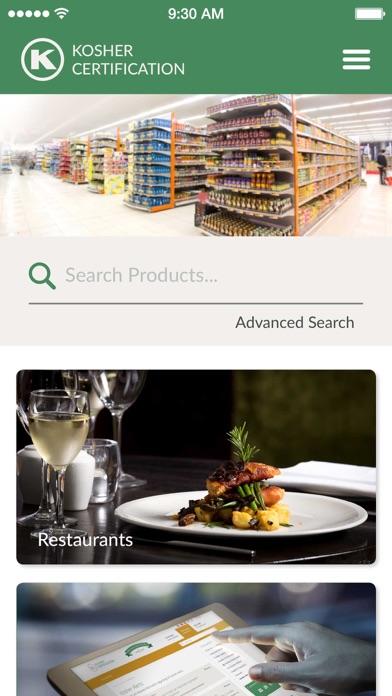 OK Kosher Food Guide screenshot one