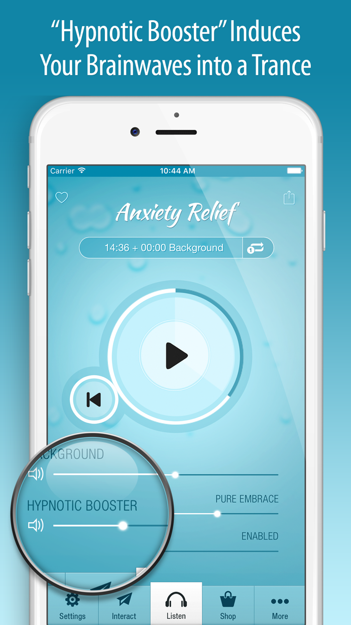 Anxiety Relief Hypnosis Screenshot