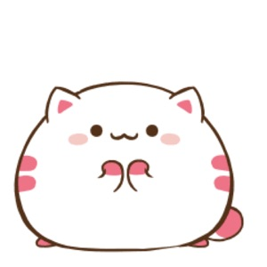 Fat Kitty Cute Stickers