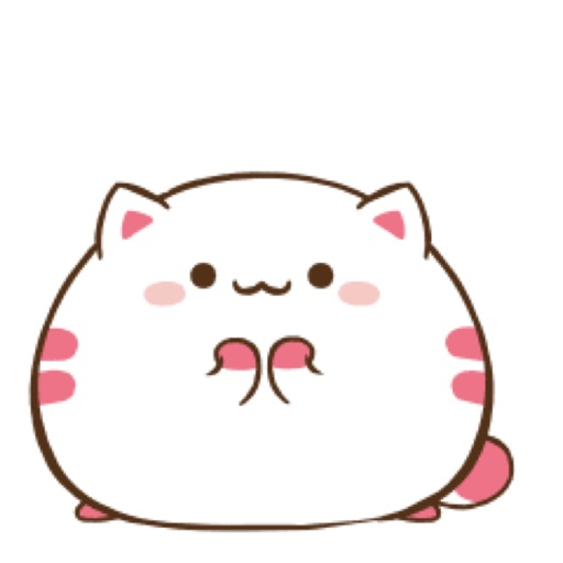 Fat Kitty Cute Stickers