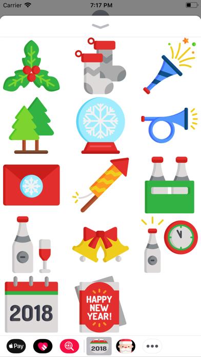 点击获取New Year 2018 Stickers Pack
