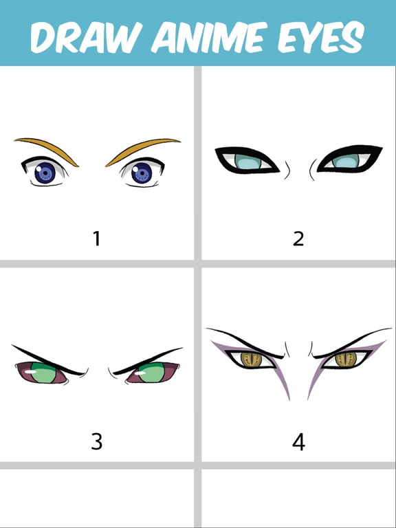 How to draw anime eyes step by with pictures