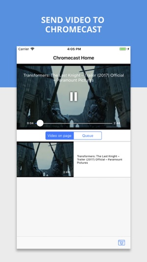 google chromecast plugin ipad
