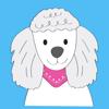 Poodle Fun Emoji Stickers