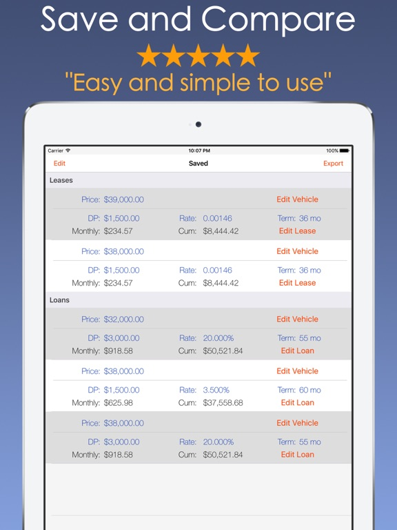 car payment calculator mobile app price drops