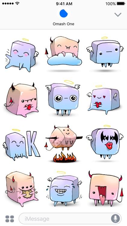 Marshmallows - Angel & Demon Animated Stickers