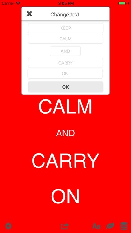 Keep Calm Creator App
