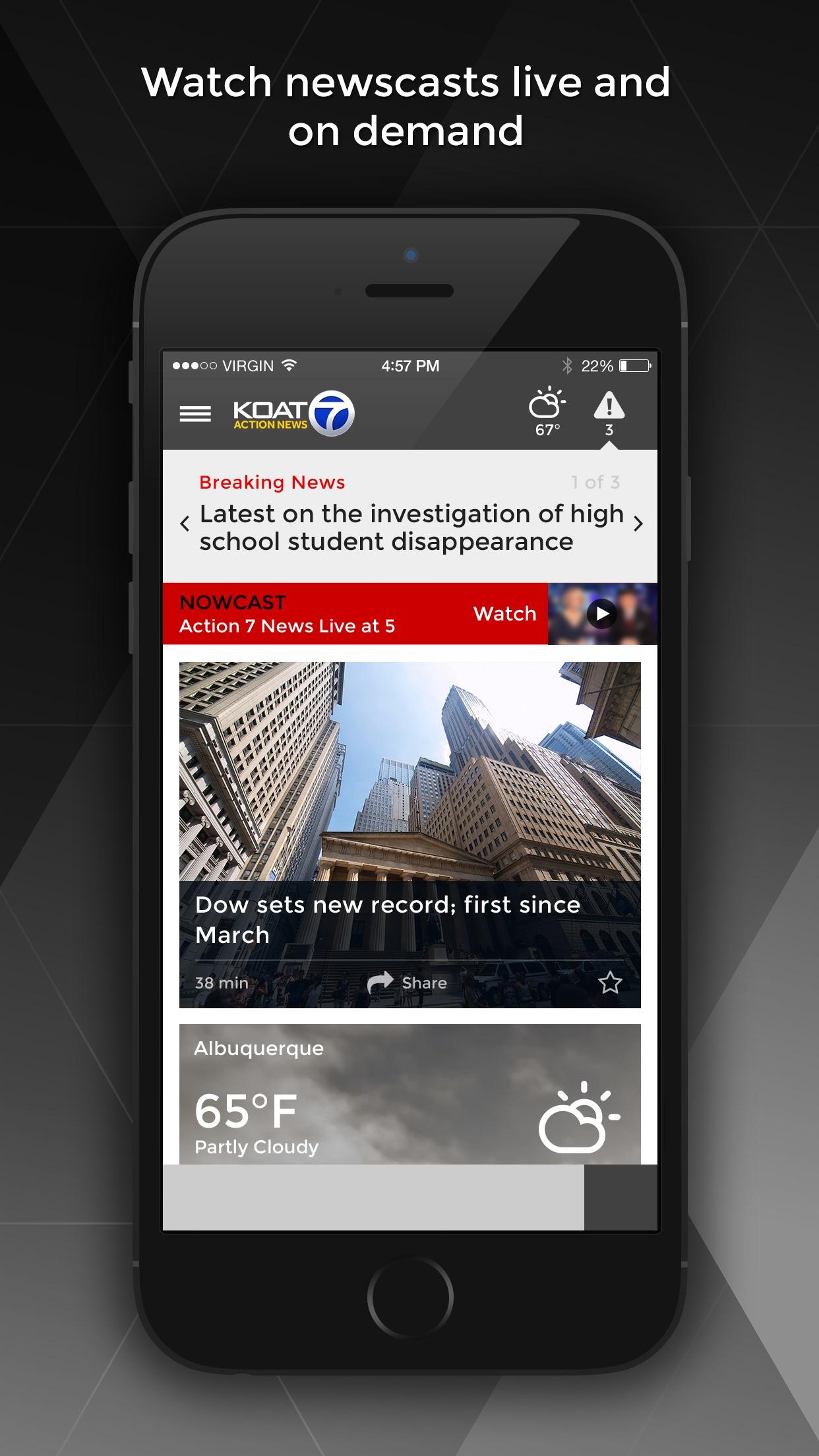 KOAT Action 7 News -   Albuquerque news & weather Screenshot