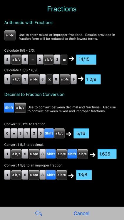 Scientific Calculator Elite - Fraction Calculator
