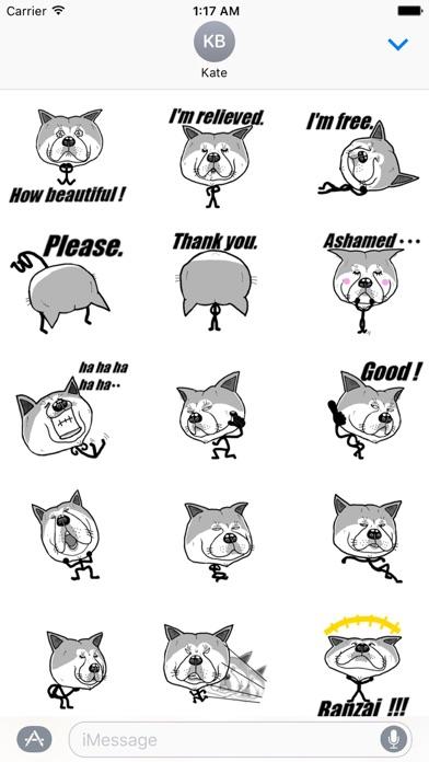 Funny Stick Dog Emoji Sticker screenshot 2