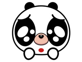 """Lovely panda"" is animated stickers with images of Lovely panda"