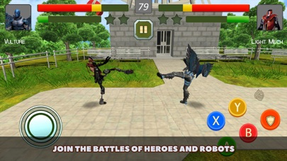 Superheroes vs Robots Fighting screenshot one