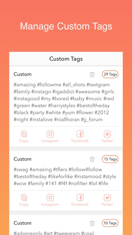 Hot Hashtags for Instagram, Facebook & Twitter screenshot-4