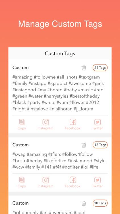 Hot Hashtags for Instagram, Facebook & Twitter screenshot-4