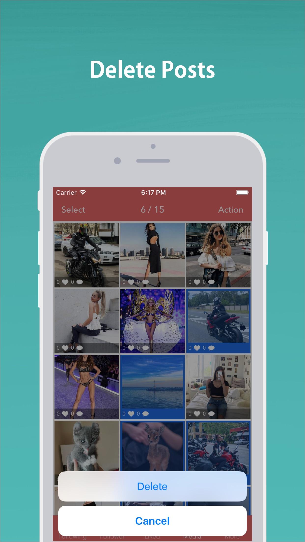 Mass Unfollow for Instagram Screenshot