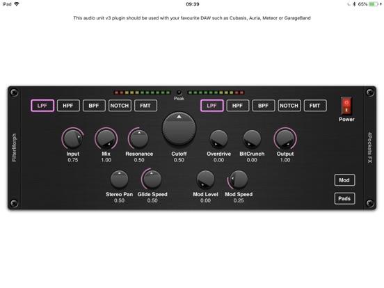FilterMorph AUv3 Audio Plugin screenshot 6