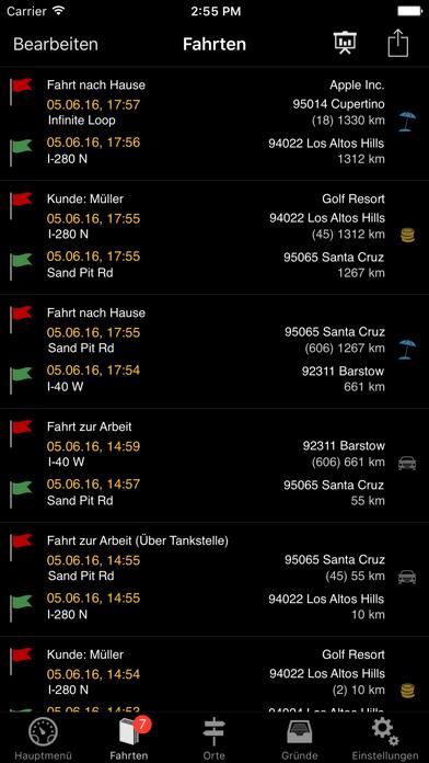 Screenshot for Fahrtenbuch in Germany App Store