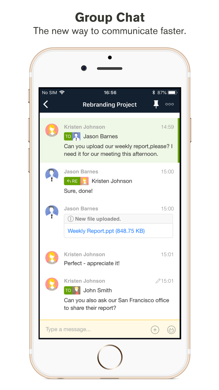 Chatwork - Business Chat App Screenshot