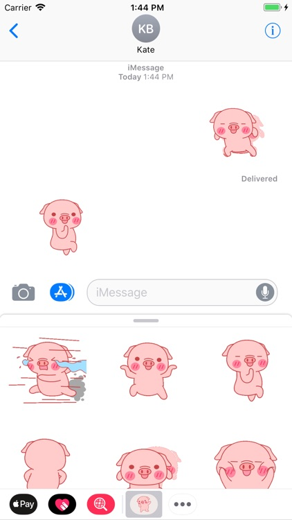 Mini Pig Animated Stickers 2