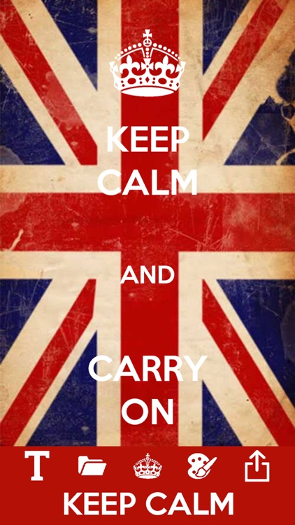 Keep calm and carry on maker