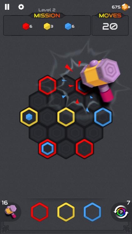 Zombie Blast : Puzzle Hexa screenshot-4