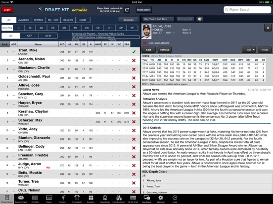 Fantasy Baseball Draft Kit '18 screenshot 6