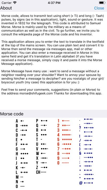 Morse Message screenshot-4