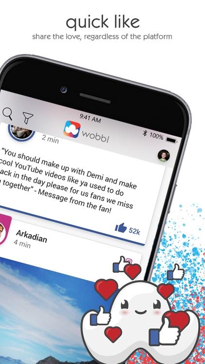 Wobbl: Your Social Circle screenshot-6
