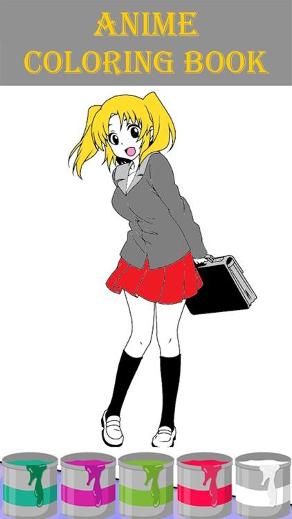 Anime Coloring Book Manga 2018