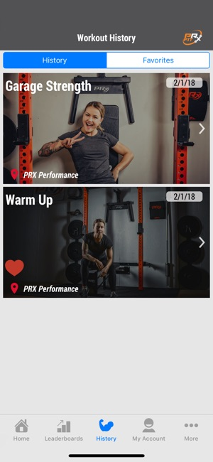 Prx fit on the app store