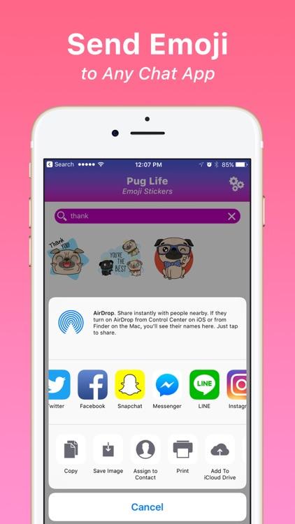 Pug Life Emoji Stickers