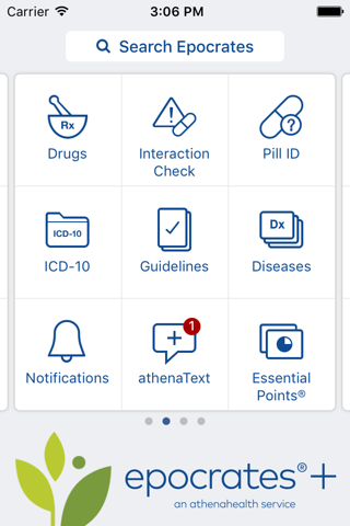 Epocrates Medical References screenshot 1