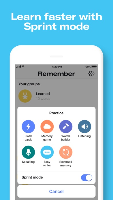 Remember: language flashcards app image