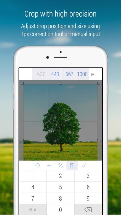 CropSize Photo Resizer screenshot-0