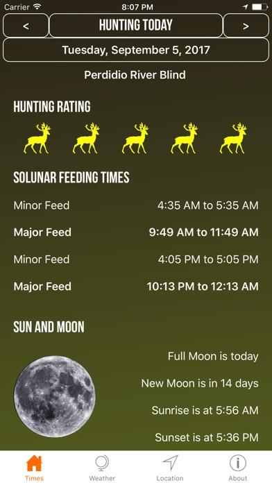 Solunar Best Hunting Times Screenshot