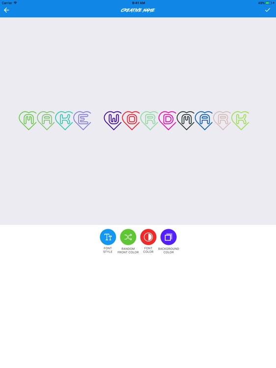 Wordmark Logo Maker Pro screenshot-3